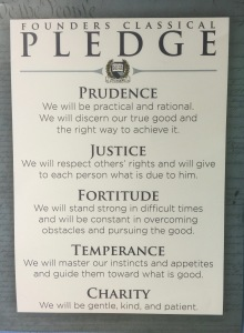 Founders Classical Pledge